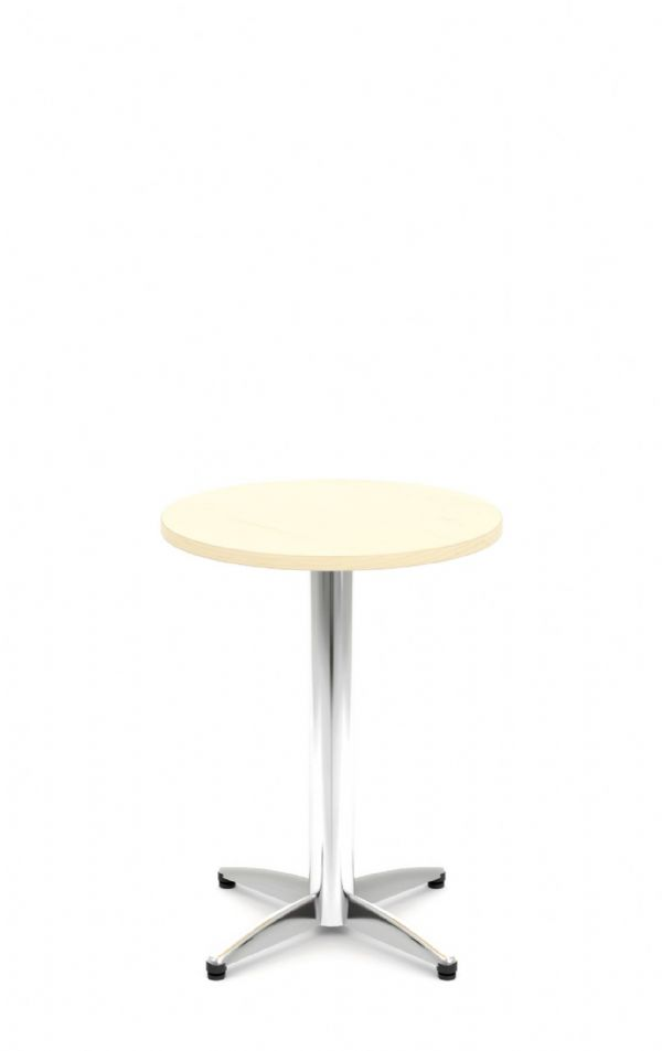 Pledge Unify Small Bistro Wooden Top Table With Four Star Base 600mm